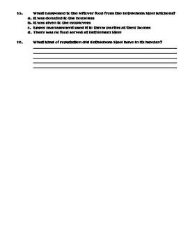 Golden Days of Bethlehem Steel Worksheet (Modifications Included!)