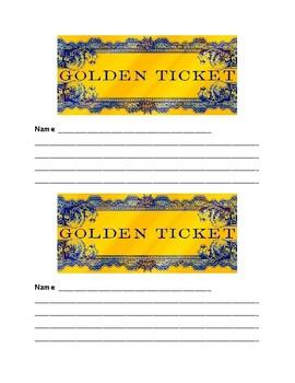 Golden Exit Ticket Template