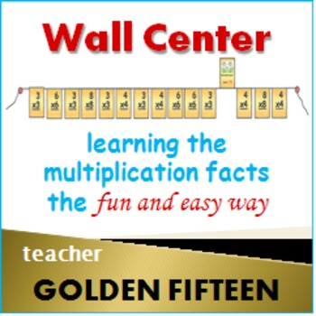 Golden Fifteen Flash Card Clothes Line - for teachers