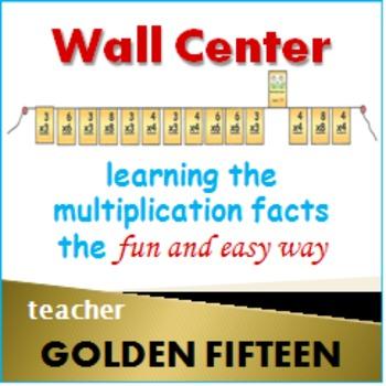 Golden Fifteen Flash Card Clothes Line - for teachers