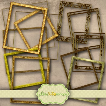Golden Frames Clip Art Printable Gold Frame Printable Frames