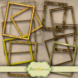 Golden Frames Clip Art Printable Gold Frame Printable Frames