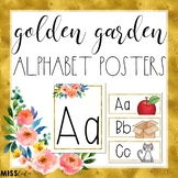 Golden Garden Alphabet Posters/Word Wall Headers