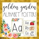 Golden Garden Alphabet Posters/Word Wall Headers