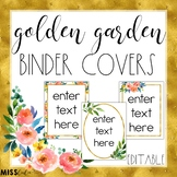 Golden Garden Binder Covers {Editable}