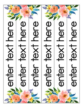 Golden Garden Binder Covers {Editable}