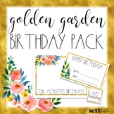 Golden Garden Birthday Pack