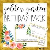 Golden Garden Birthday Pack