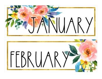 Golden Garden Classroom Calendar Set