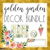 Golden Garden Classroom Decor Bundle