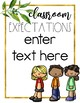 Golden Garden Classroom Rule Posters {Editable}
