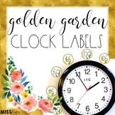 Golden Garden Clock Labels