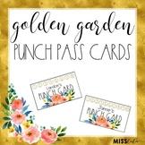 Golden Garden Editable Punch Pass Cards
