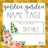 Golden Garden Name Tags {Editable}