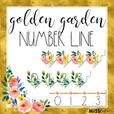Golden Garden Number Line