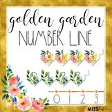 Golden Garden Number Line