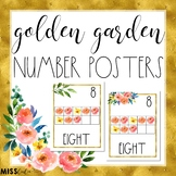 Golden Garden Number Posters