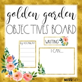 Golden Garden Objectives Board {Editable}