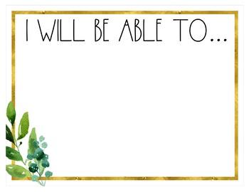 Golden Garden Objectives Board {Editable}