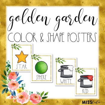 Golden Garden Shape and Color Posters
