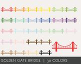 Golden Gate Bridge Digital Clipart, Golden Gate Bridge Graphics
