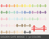 Golden Gate Bridge Digital Clipart, Golden Gate Bridge Graphics