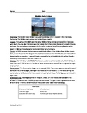 Golden Gate Bridge - Review Article Questions Vocabulary Word Search