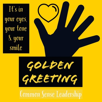 Golden Greeting Printable Poster