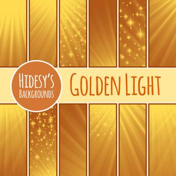 Golden Light Digital Paper / Background / Patterns Clip Art for Commercial Use