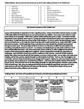 Golden Line Close Reading Strategy