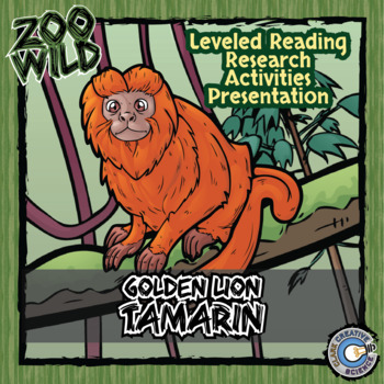Golden Lion Tamarin -- 10 Resources -- Coloring Pages, Rea