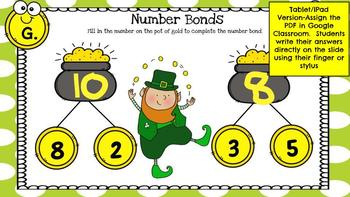 Golden Number Bonds (St Patrick's Day)-A Digital Math Center