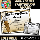 FREE Art Award (Gold & Silver Paintbrush Award)