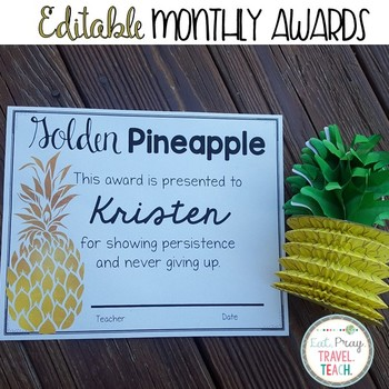 Golden Pineapple Student Awards
