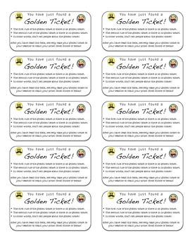 Golden Reading Tickets