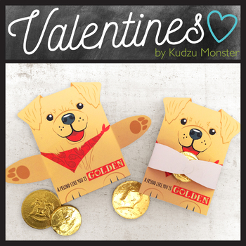 Golden Retriever Valentine Treat Hugger