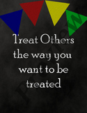 Golden Rule - Chalkboard and Colorful Banners