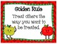 Golden Rule Poster, Writing Template, and Award