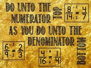 Golden Rule for Simplifying Fractions