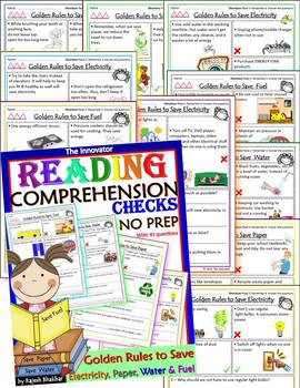 Reading Comprehension - Golden Rules to Save Electricity, Paper, Water & Fuel