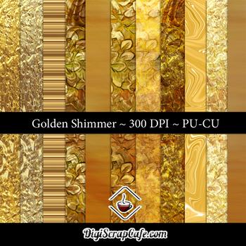 Golden Shimmer CU Paper Set