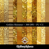 Golden Shimmer CU Paper Set