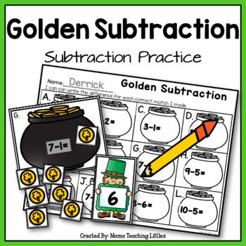 Golden Subtraction - Subtraction Practice