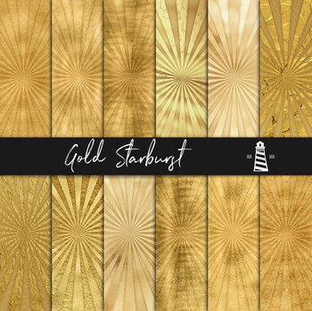 Golden Sunburst Digital Paper