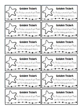 Golden Ticket Behavior Management Bundle {FULLY EDITABLE}
