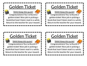 Golden Ticket Book Reward