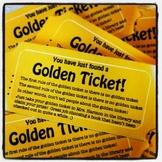 Golden Ticket:  Hide in Seldom-Read Library or Classroom Books FUN!