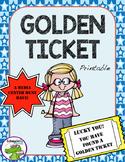 Golden Ticket Library/Classroom Printable