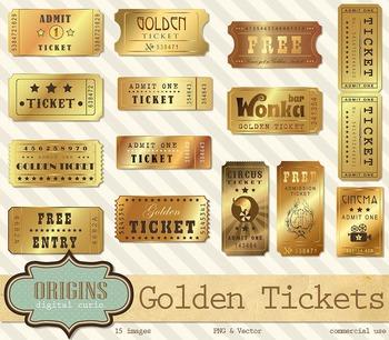 Golden Tickets Clipart