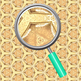 Golden Treasure Backgrounds / Pattern / Digital Paper Clip Art Commercial Use